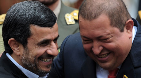 Mahmud Ahmadinejad junto a Hugo Chávez / AFP