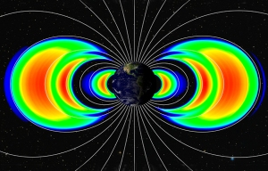 In September, a third ring appeared between the two known Van Allen radiation belts that girdle the Earth thousands of miles above. Credit: Johns Hopkins Univ. Applied Physics Laboratory/Univ. of Colorado Boulder Laboratory for Atmospheric and Space Physics
