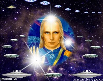 Ashtar Sheran con su tropa de extraterrestres (perdón, Malajim caídos) de Satanás