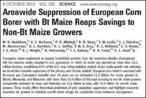 Beneficios económicos por 7.000 millones de dólares en 14 años para los agricultores solo en USA por menor uso de pesticidas, incluso entre quienes cultivan maíz convencional.