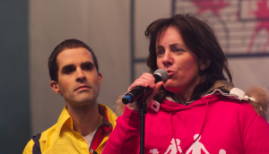 Nathalie de Williencourt (a la derecha) comenzó con HOMOVOX.