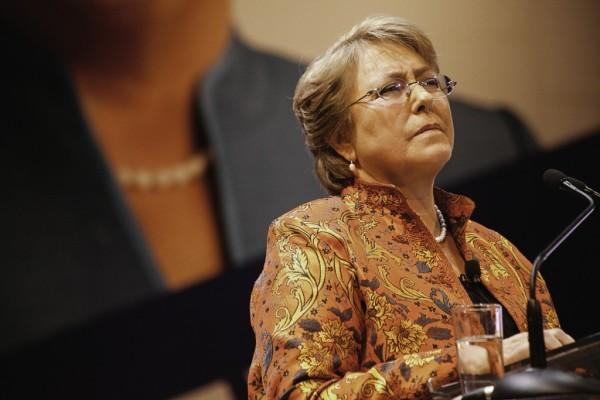 La presidenta de Chile, Michelle Bachelet, durante su toma de posesión. /Wikimedia